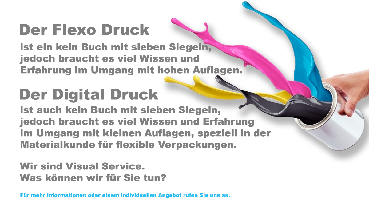 Flexo Digital Druck VISUAL SERVICE